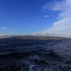 Diesige Luft und Saharasand an der Reling…